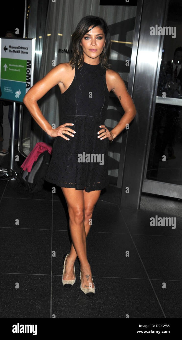 New York, NY, USA. 07th Aug, 2013. Jessica Szohr attends 'Jobs' New York Premiere at MOMA on August 7, 2013 in New Stock Photo