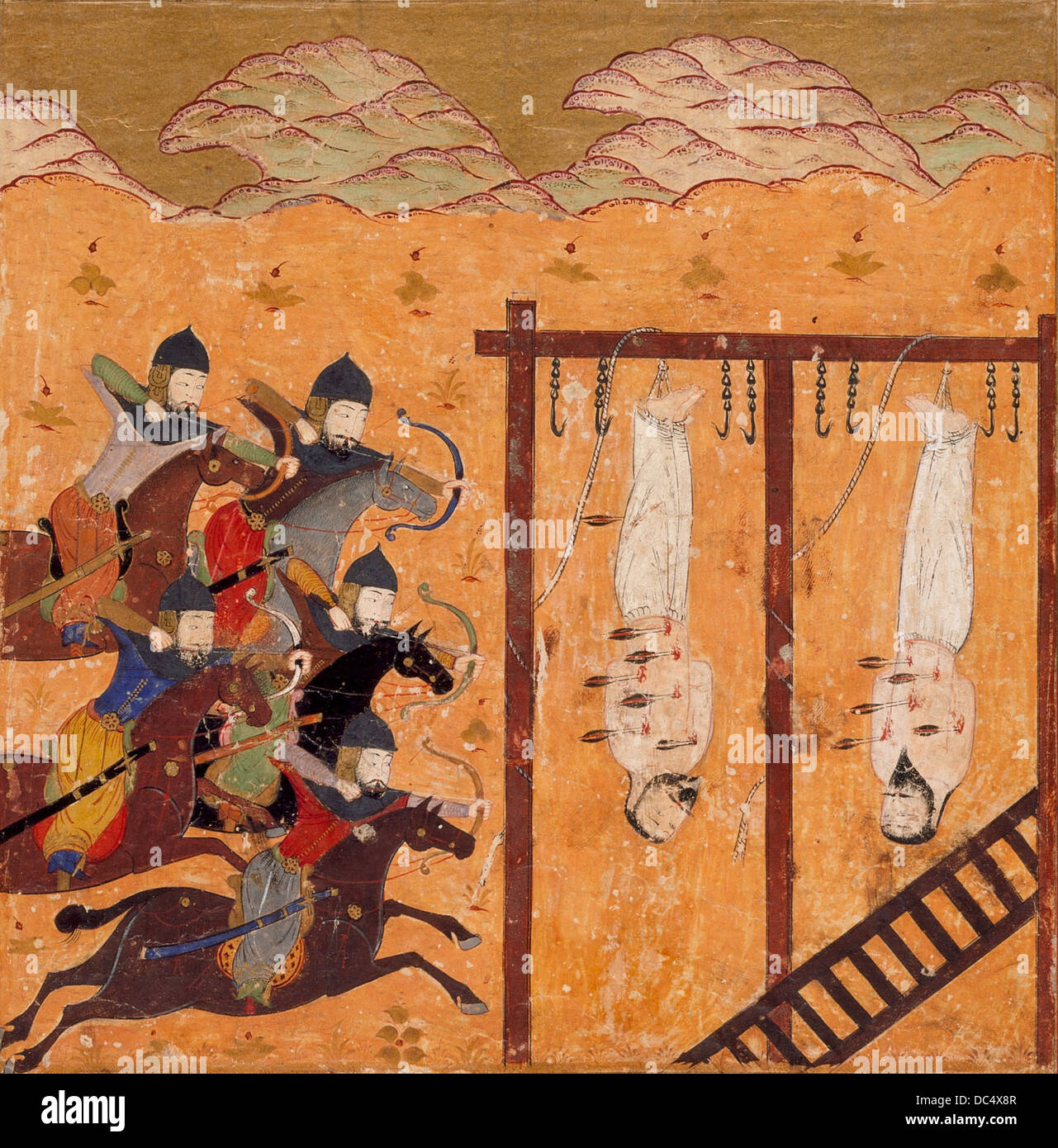 Execution Scene, Folio from a Shahnama (Book of Kings) M.85.189 - Stock Image
