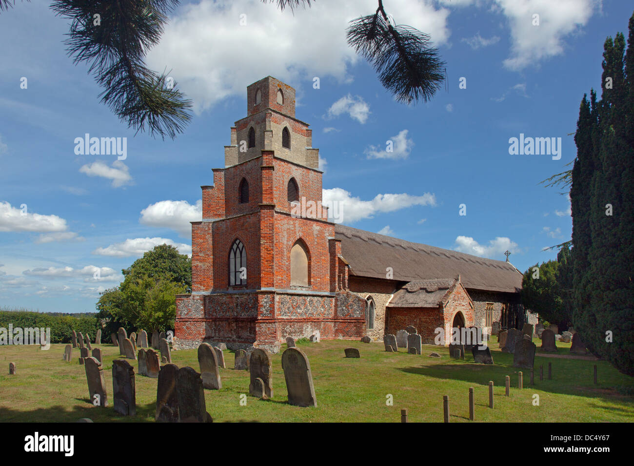 St Mary Church Burgh St Peter Suffolk England UK - Stock Image