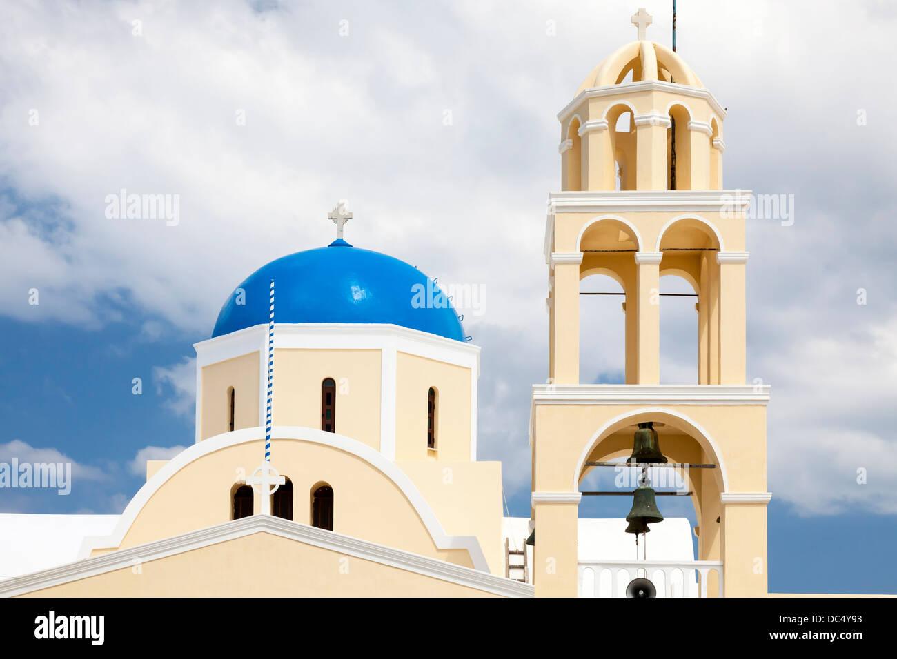 St George Church (Ekklisia Agios Georgios) Oia Santorini Greece Europe - Stock Image