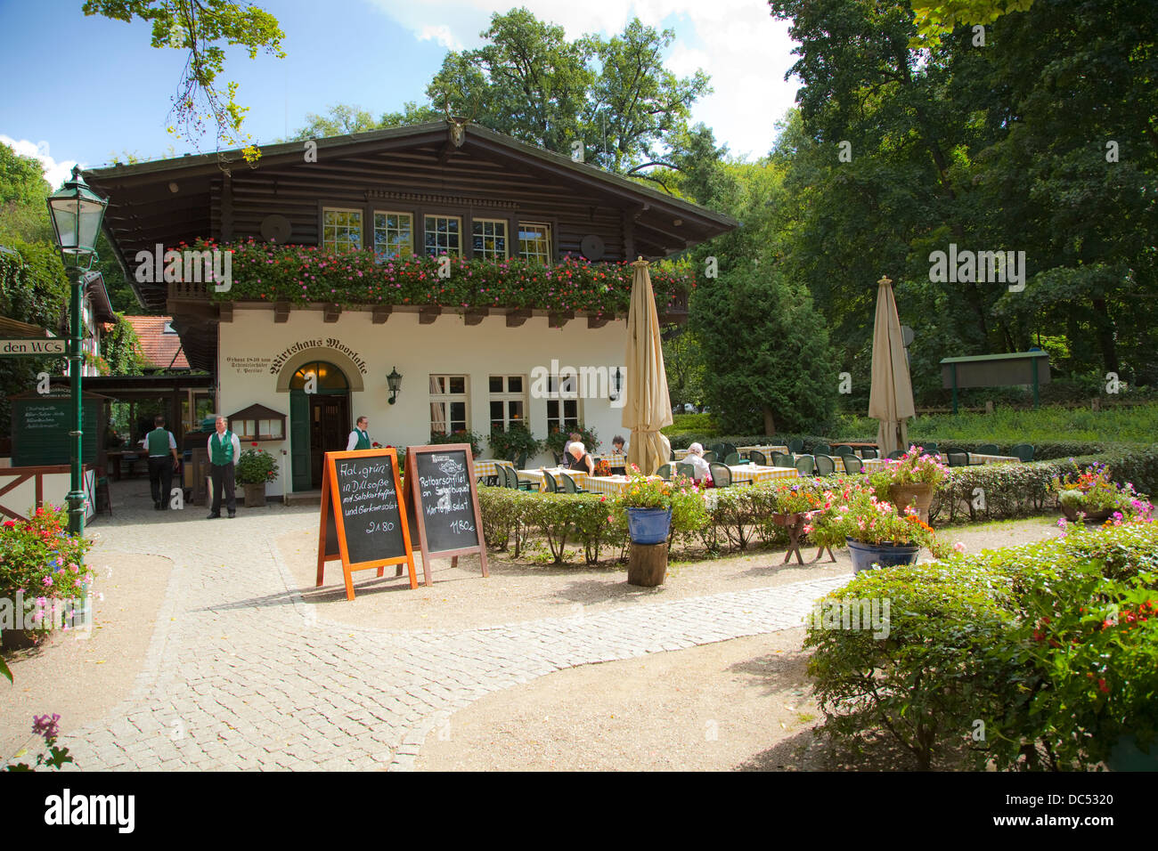 Europe, Germany, Berlin, Zehlendorf, Wirtshaus Moorlake - Stock Image