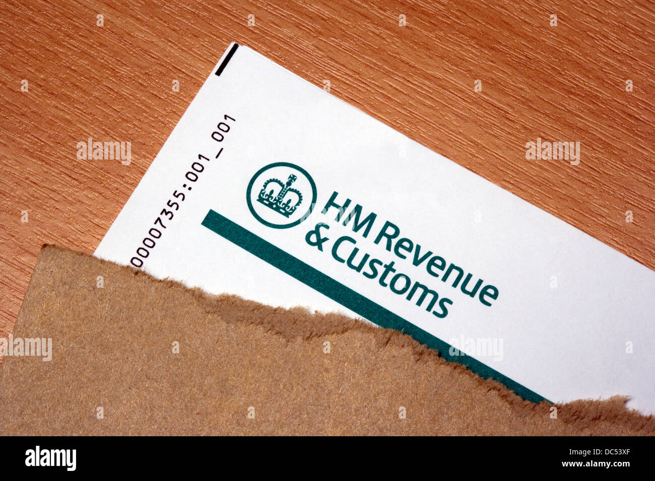 HM Revenue & Customs letter and envelope - Stock Image