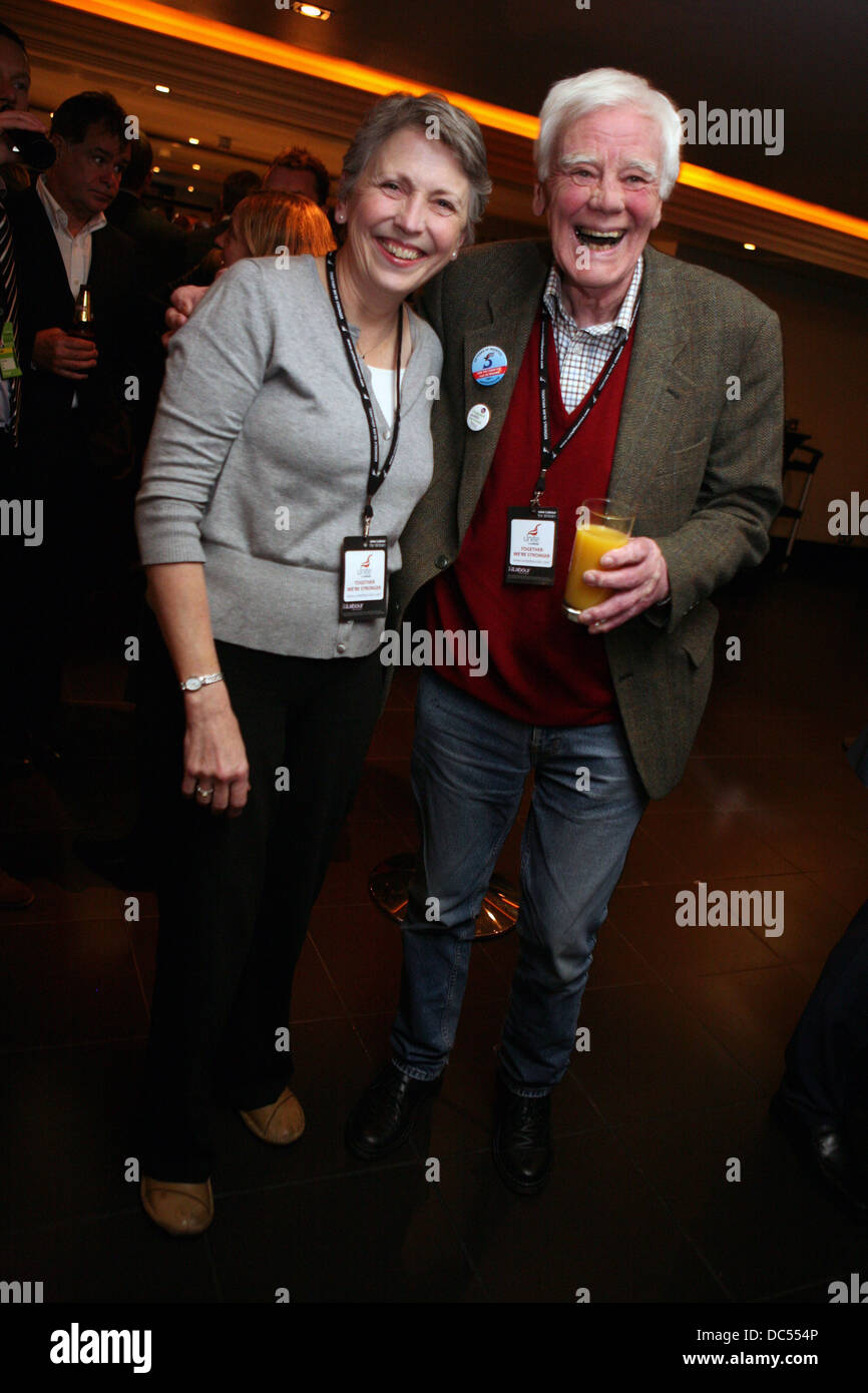 Stephanie and Tony Booth during the News at Ten party at the Radisson hotel. Picture: Chris Bull - Stock Image