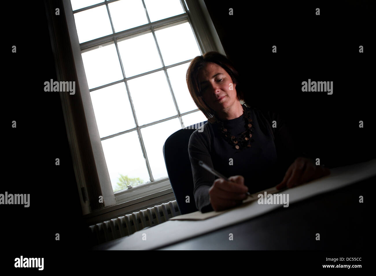 Cllr Susan Williams , leader of Trafford Council. Pictured at Trafford Town Hall - Stock Image