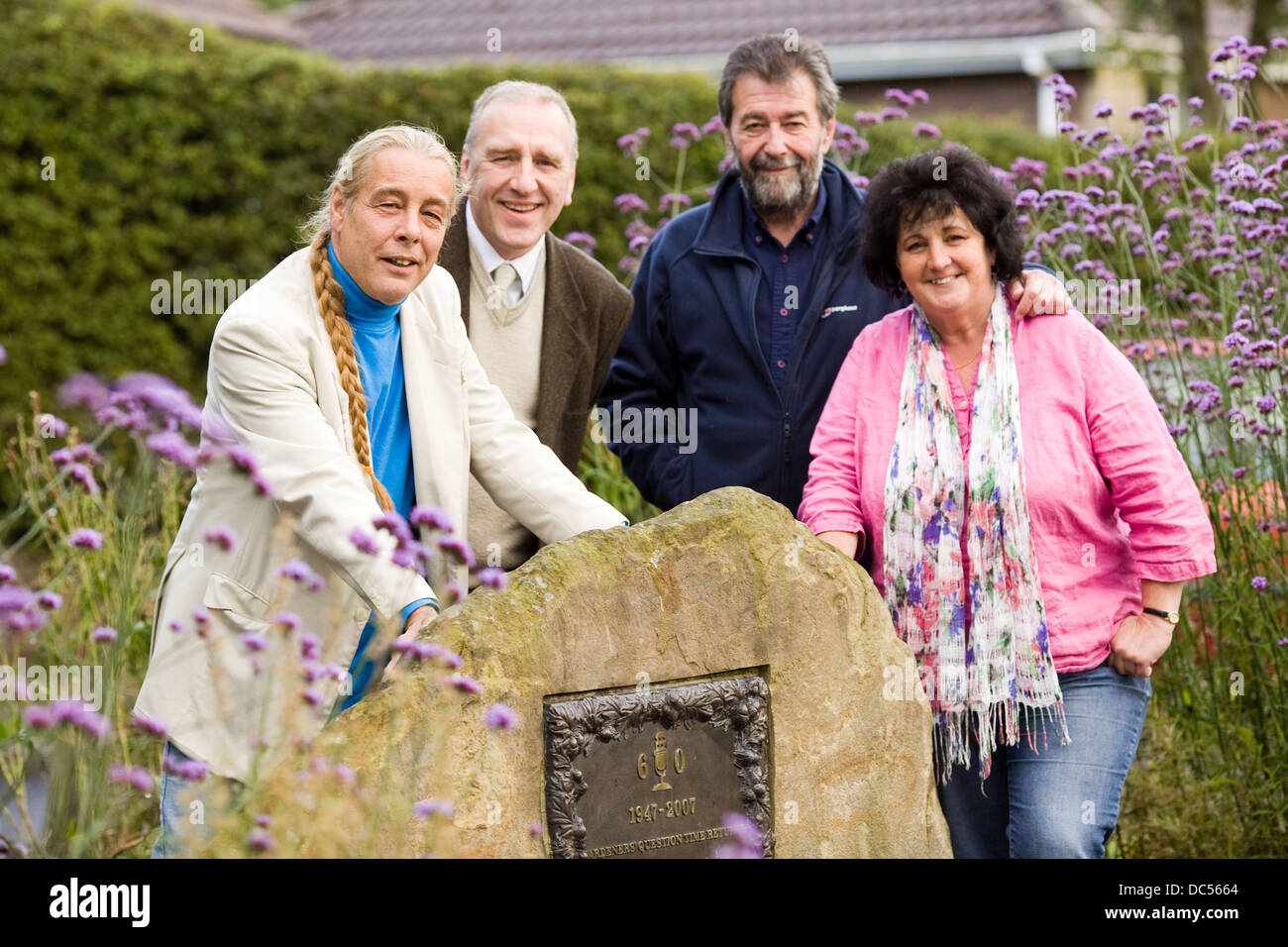 Gardeners' Question Time team L-R Panel members Bob Flowerdew , Paul Peacock , Eric Robson and Pippa Greenwood - Stock Image
