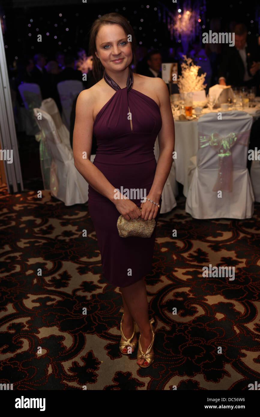 Picture by Chris Bull Kirsty Howard Star Ball at Hallmark Hotel , Handforth .Vicky Binns . PICTURE: CHRIS BULL DATE: - Stock Image
