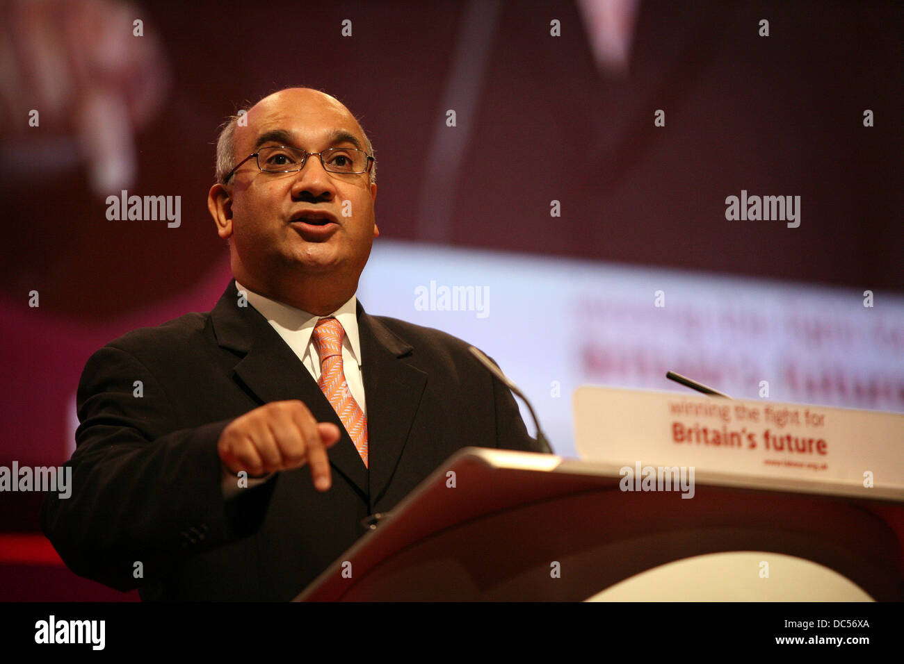 Labour Party Conference Manchester September 2008 . Keith Vaz - Stock Image