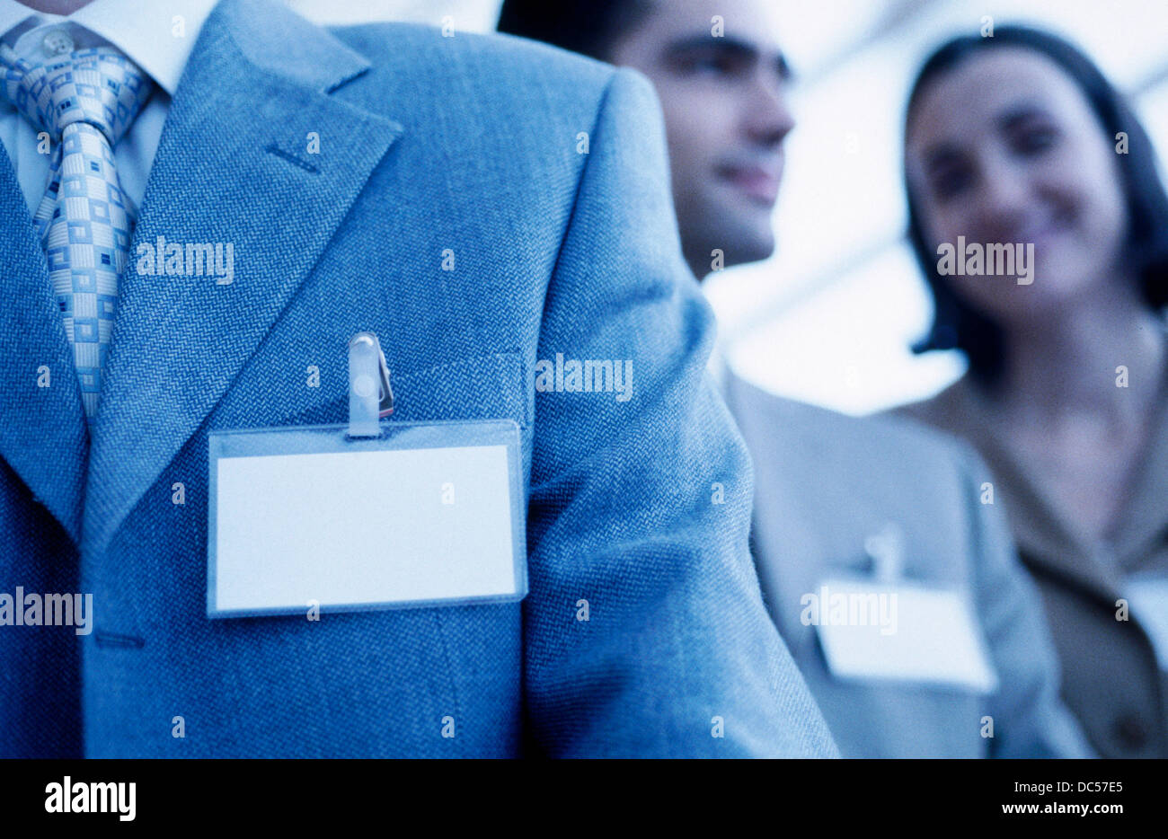 Business congress, ID Cards - Stock Image