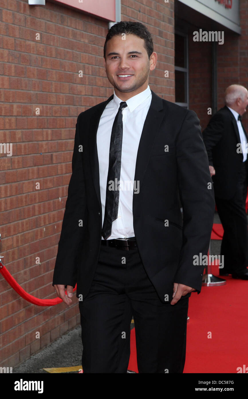 Old Trafford football ground for a charity dinner. Ryan Thomas . - Stock Image