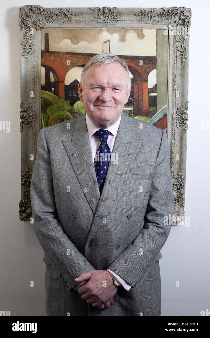 Bruntwood Chairman Michael Oglesby pictured in the City Tower , Piccadilly Plaza , Manchester - Stock Image