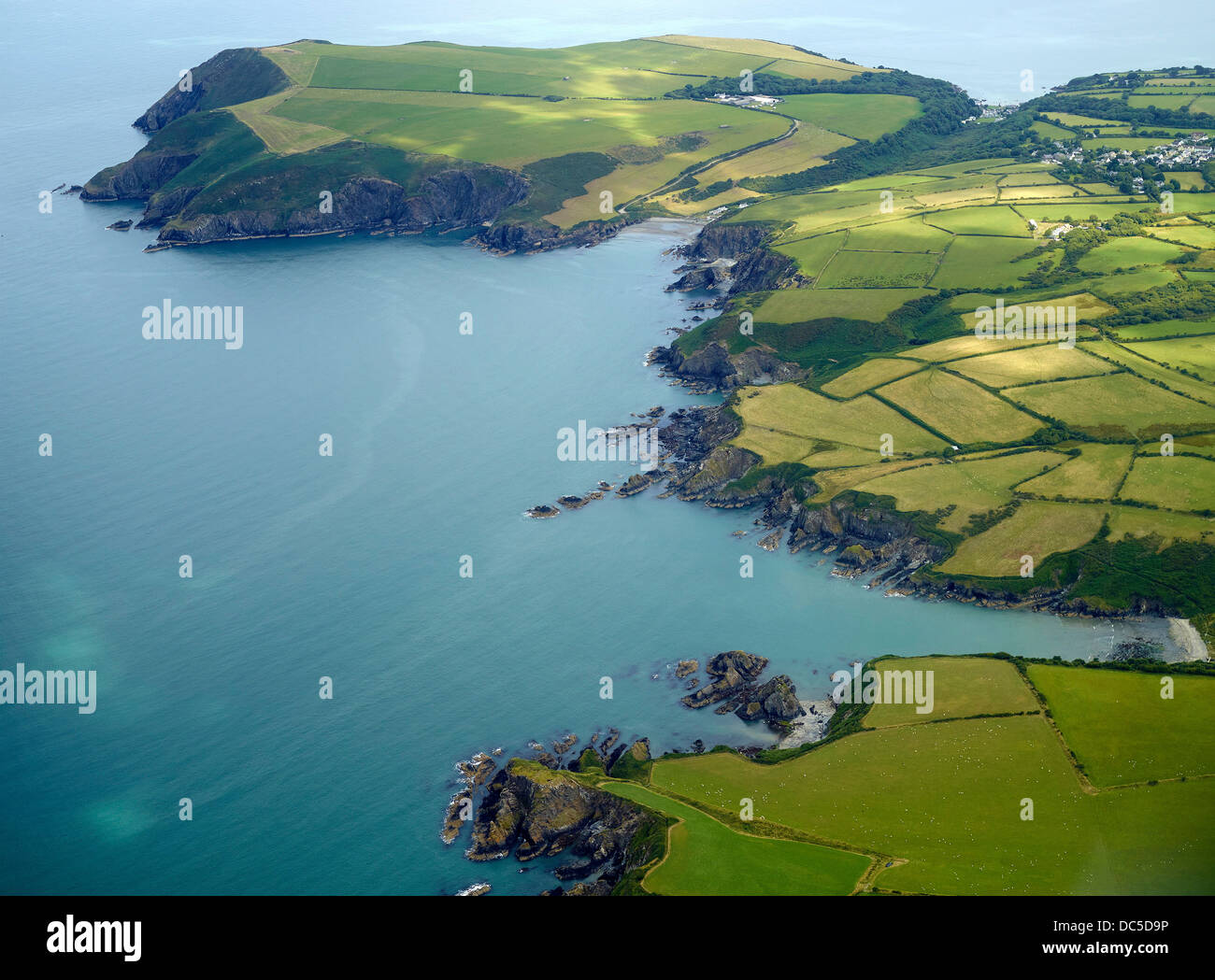 The Coast of West Wales, UK, north of Fishguard - Stock Image