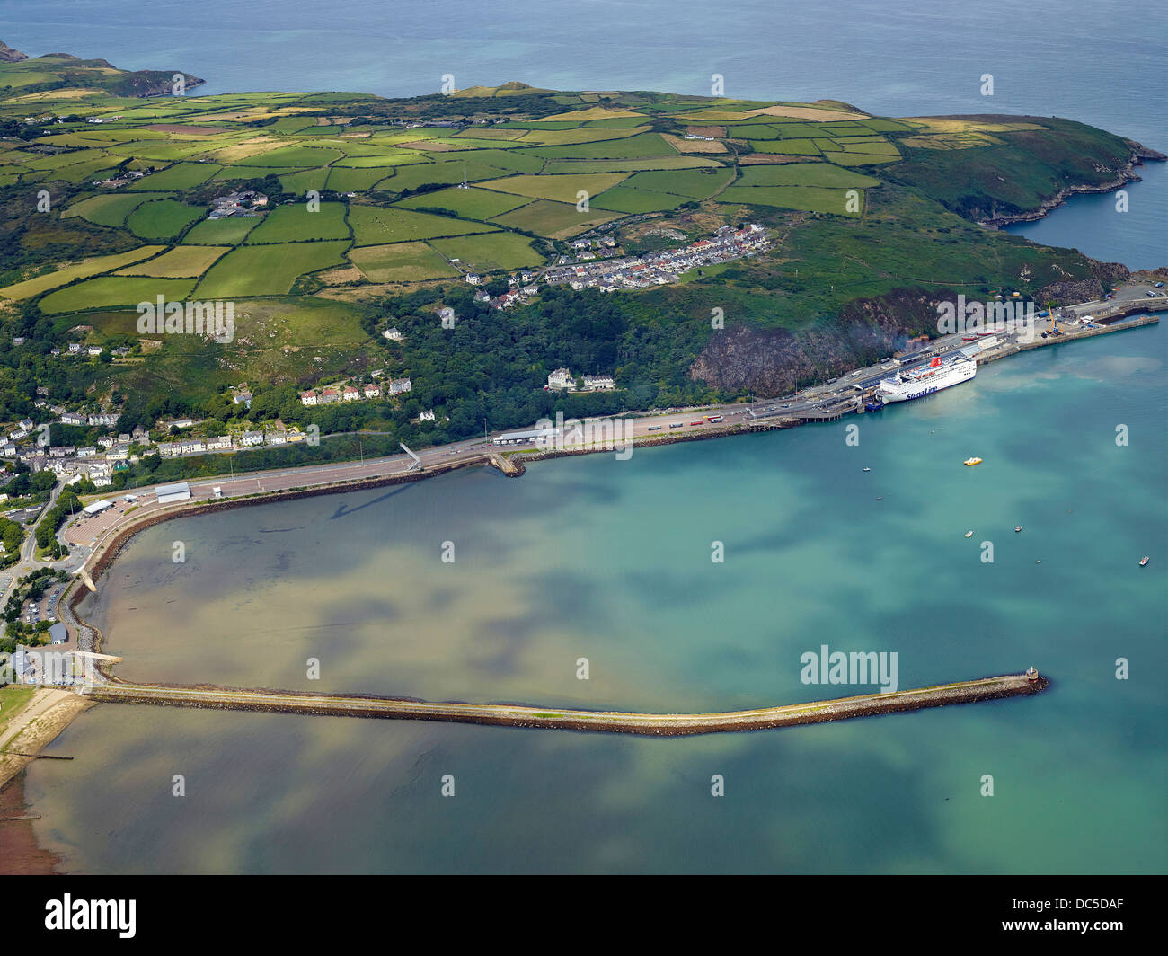 The ferry port of Fishguard, West Wales, UK - Stock Image