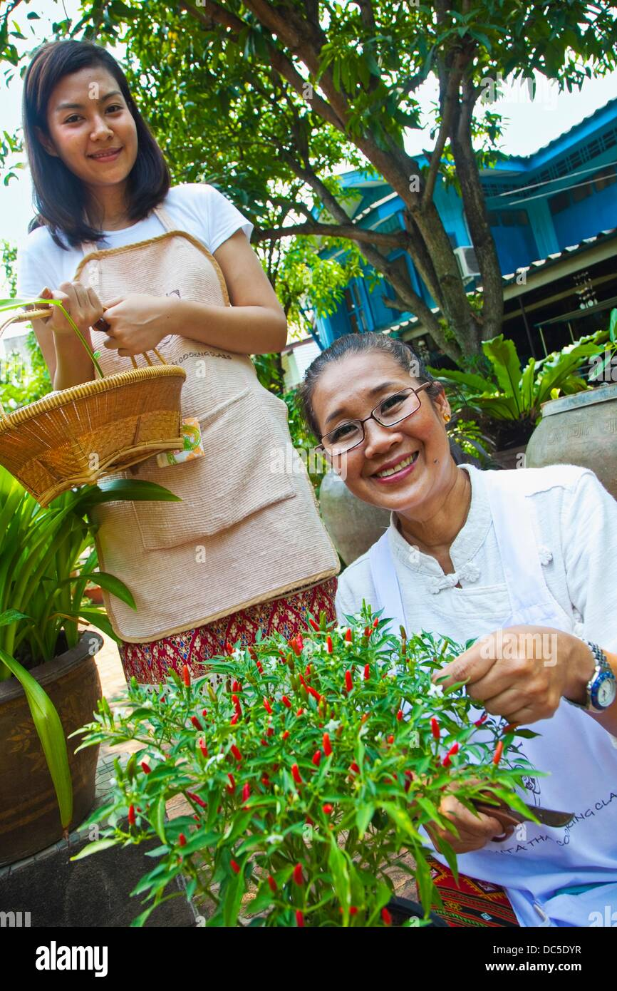 Thai Cooking School  Amita Thai cooking class  Bangkok  Thailand. - Stock Image