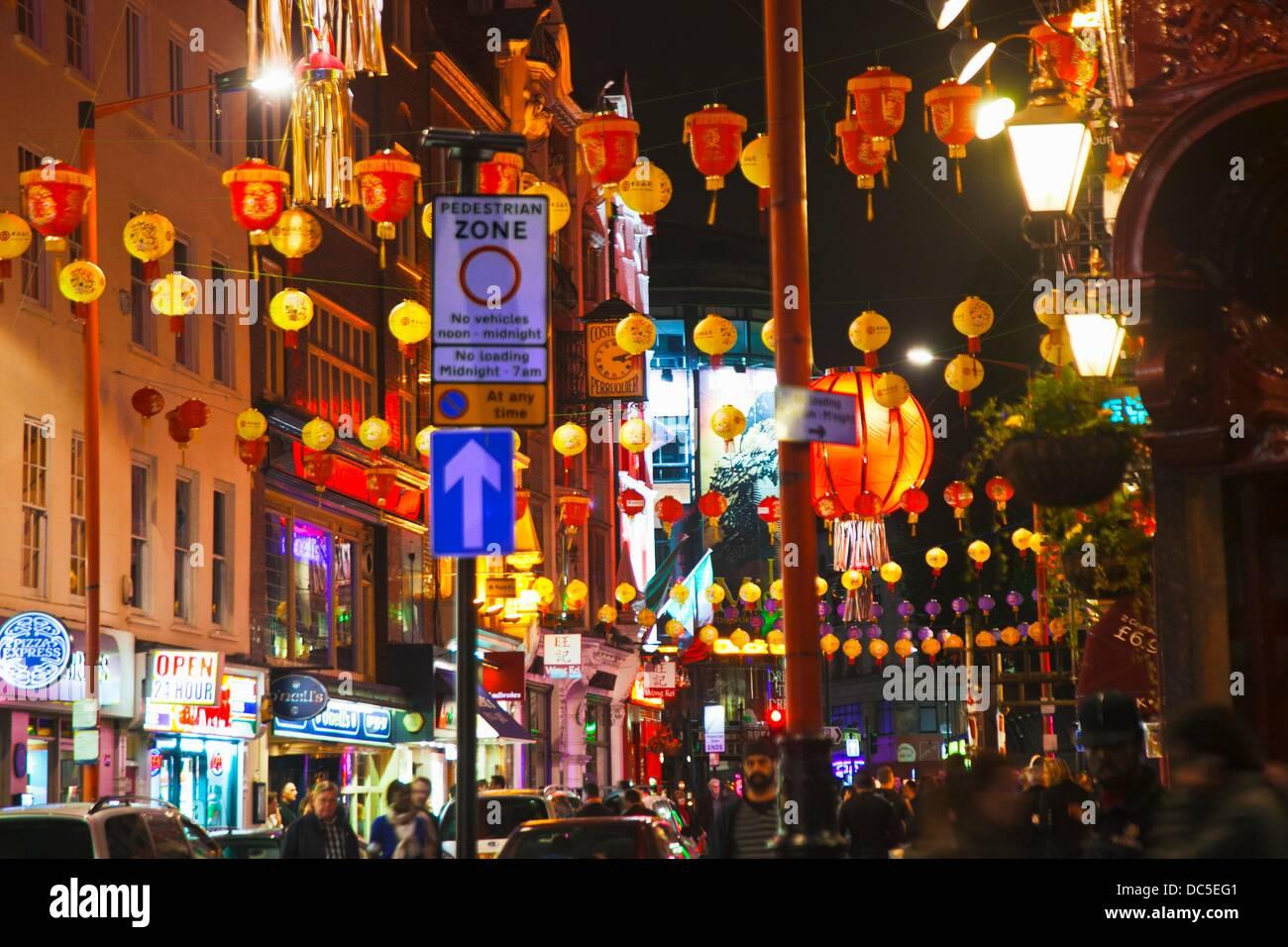 Chinatown  Wardour Street  London  England  United Kingdom  Uk  Europe. - Stock Image