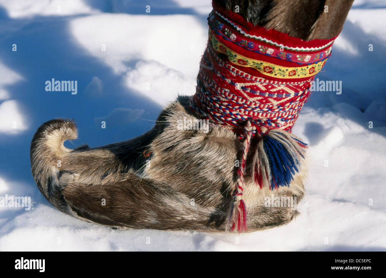 959c6a39bcb Laplander typical shoes. Luosto. Finland Stock Photo  59128340 - Alamy