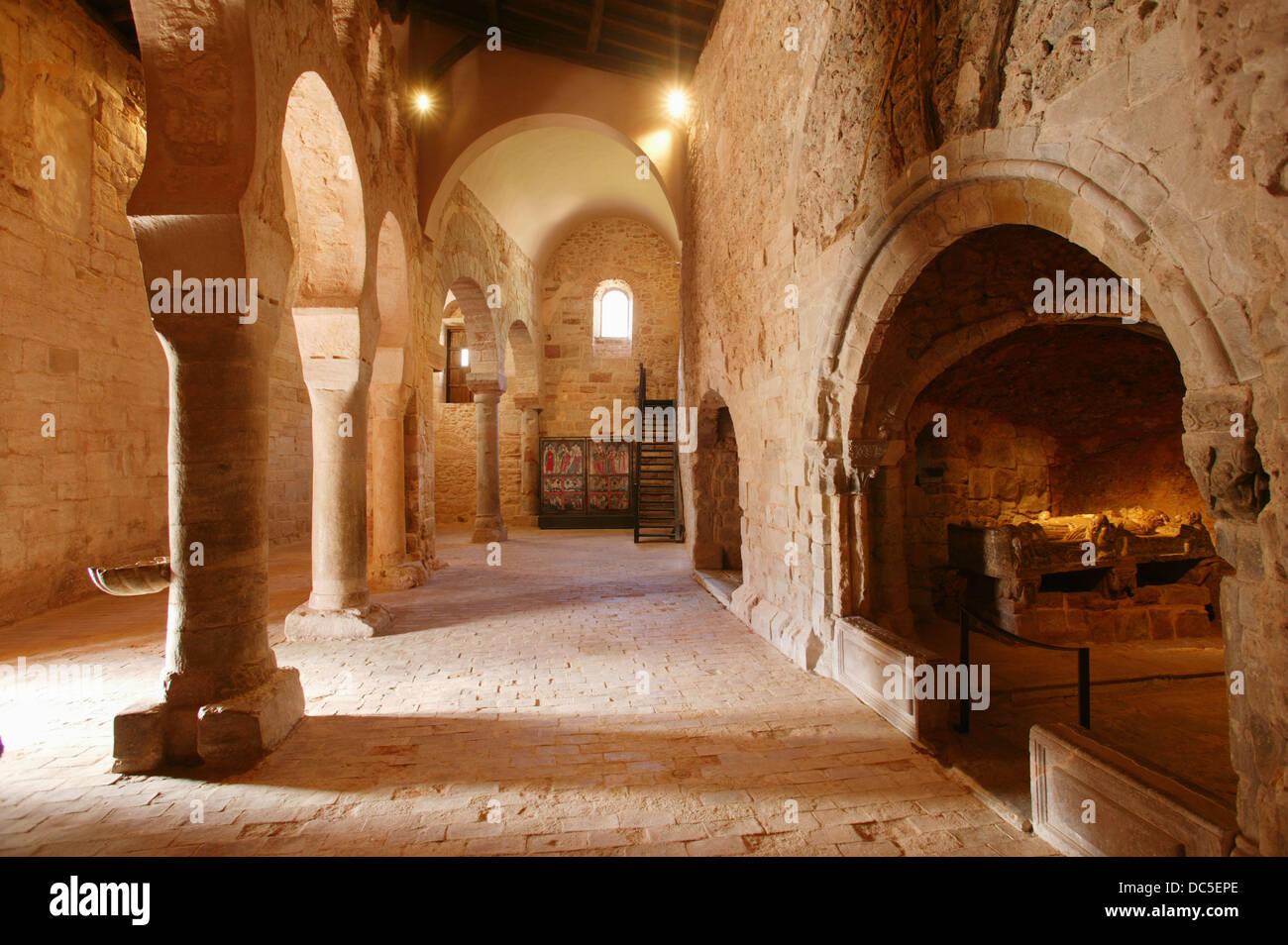 Monasterio de Suso (Built between VI and XI Century). San Millán de la Cogolla. La Rioja. Spain - Stock Image