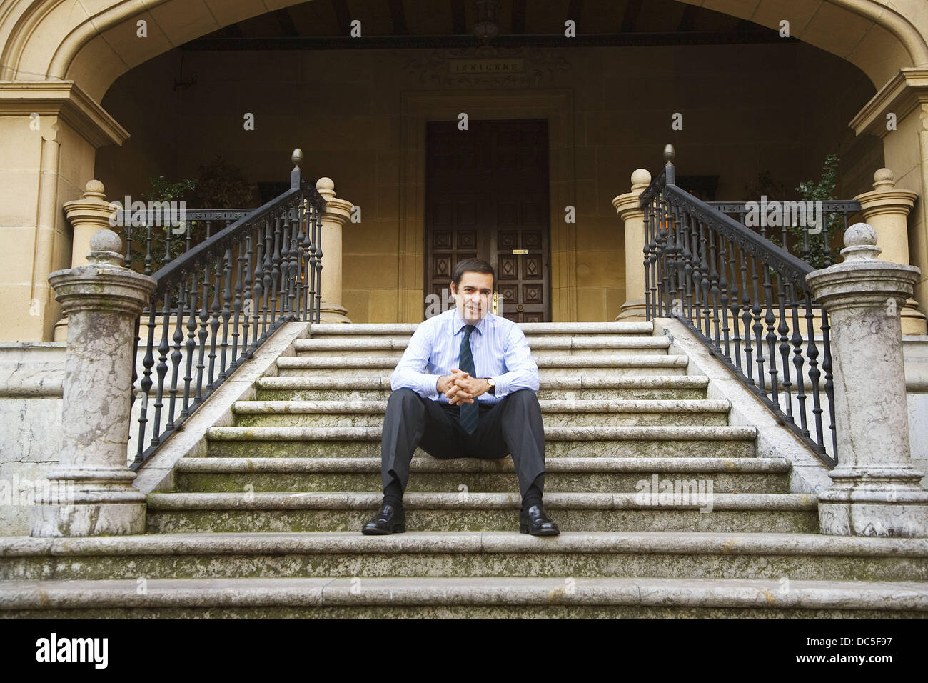 Fernando Garcia Macua, president of Athletic Club football club at Ibaigane Palace (currently the headquarters of - Stock Image