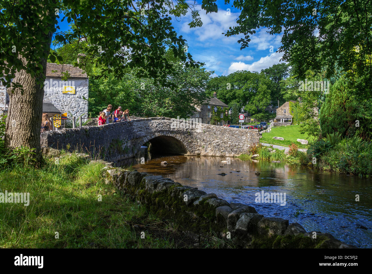 The village of Malham in North Yorkshire. North West England. - Stock Image