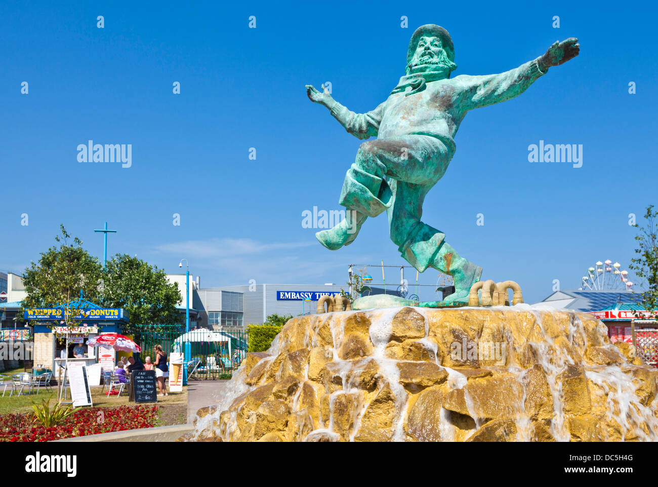 Jolly fisherman statue Skegness Tower Gardens Lincolnshire england UK GB EU Europe Stock Photo