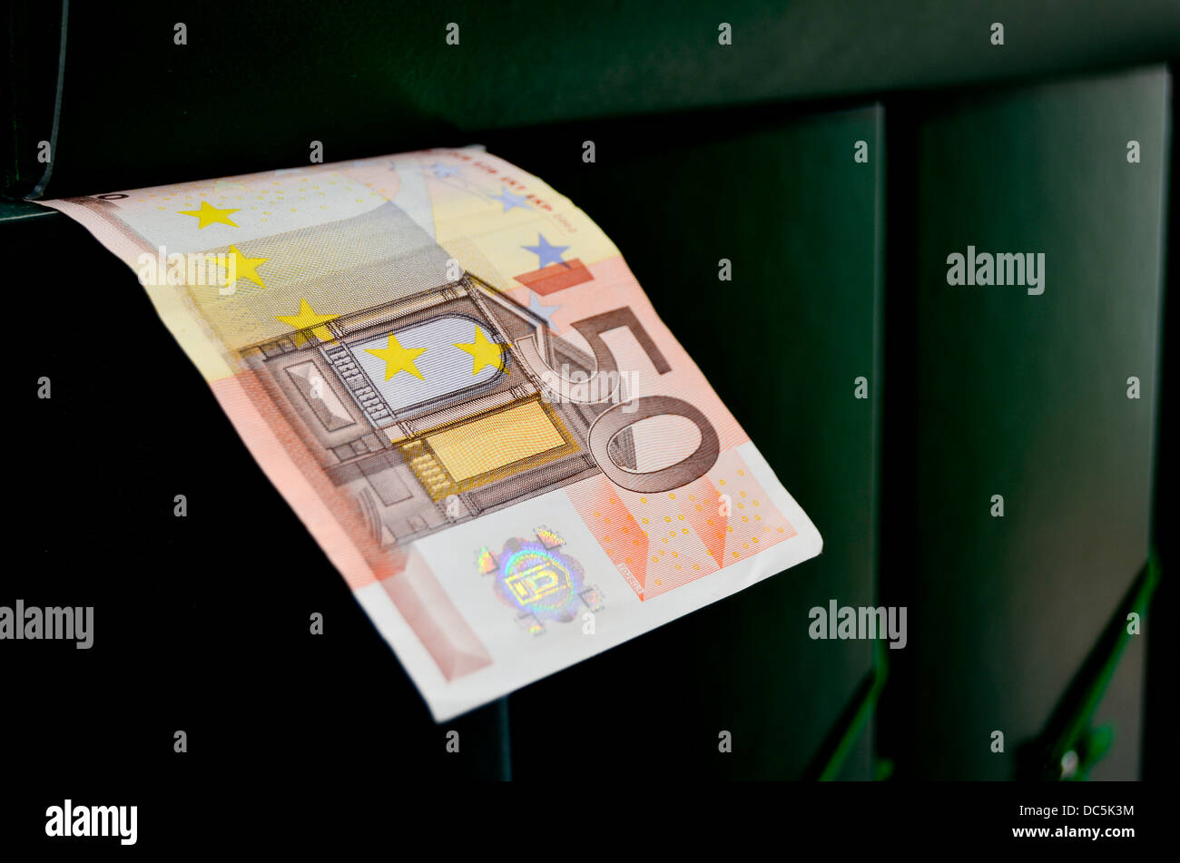 Fifty euro banknote. - Stock Image