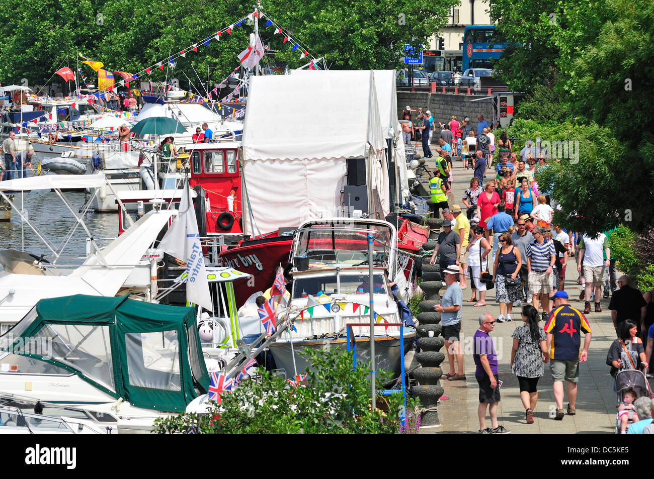 Maidstone, Kent, England, UK. Annual Maidstone River Festival (July 27th 2013) Stock Photo