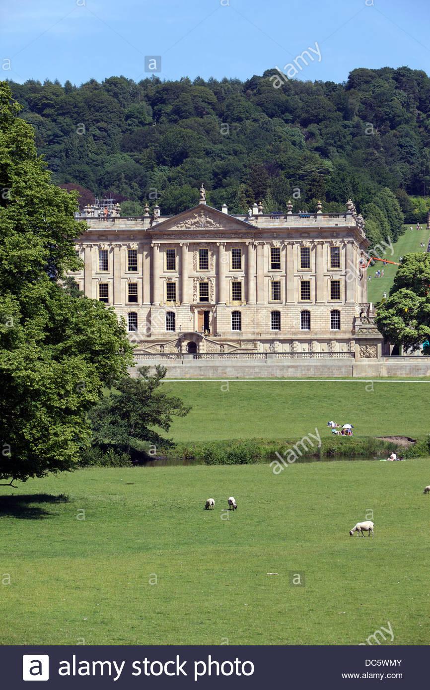 Chatsworth House Country Estate Derbyshire England UK - Stock Image