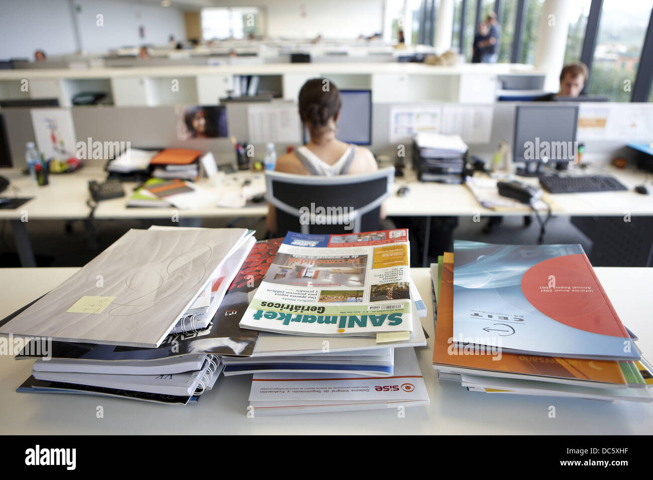 Technical magazines, office, Fatronik-Tecnalia, Research and Technology Center, Donostia, Basque Country, Spain - Stock Image