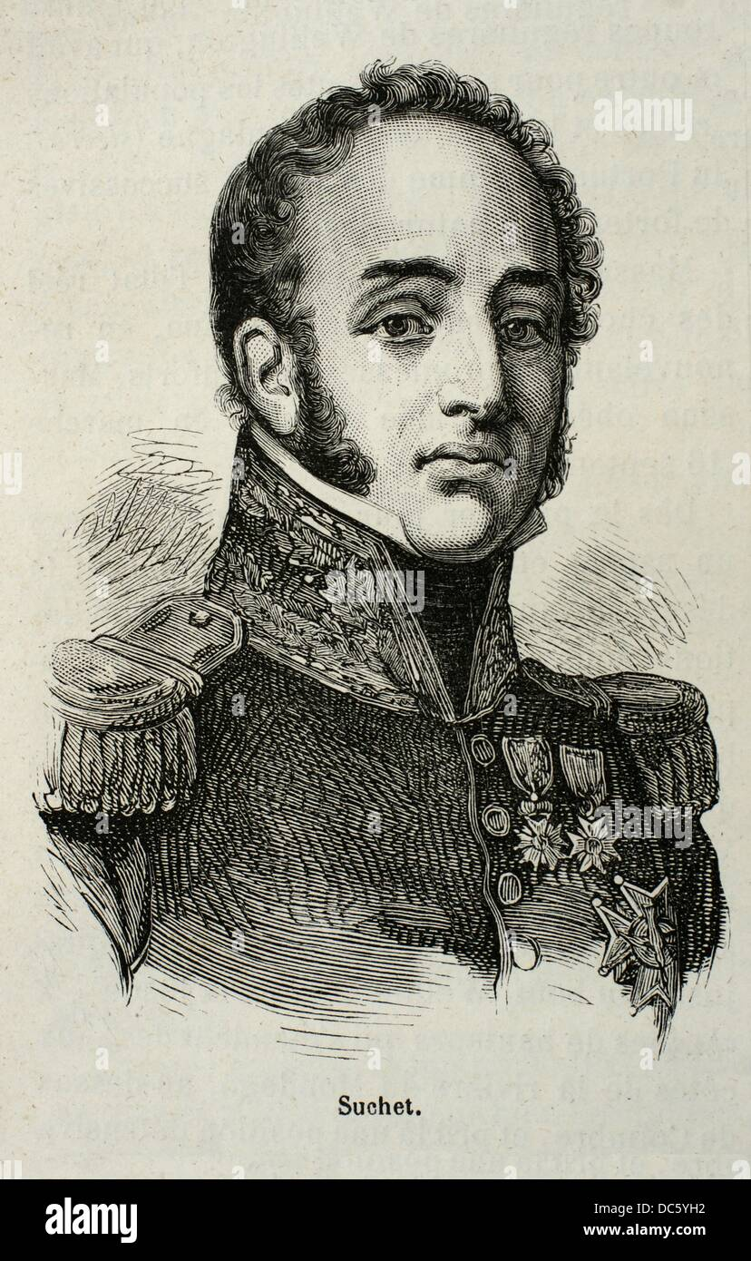 France, History, XIXc - Louis Gabriel Suchet, 1st Duc d´Albufera 2 March 1770 - 3 January 1826 was a Marshal - Stock Image