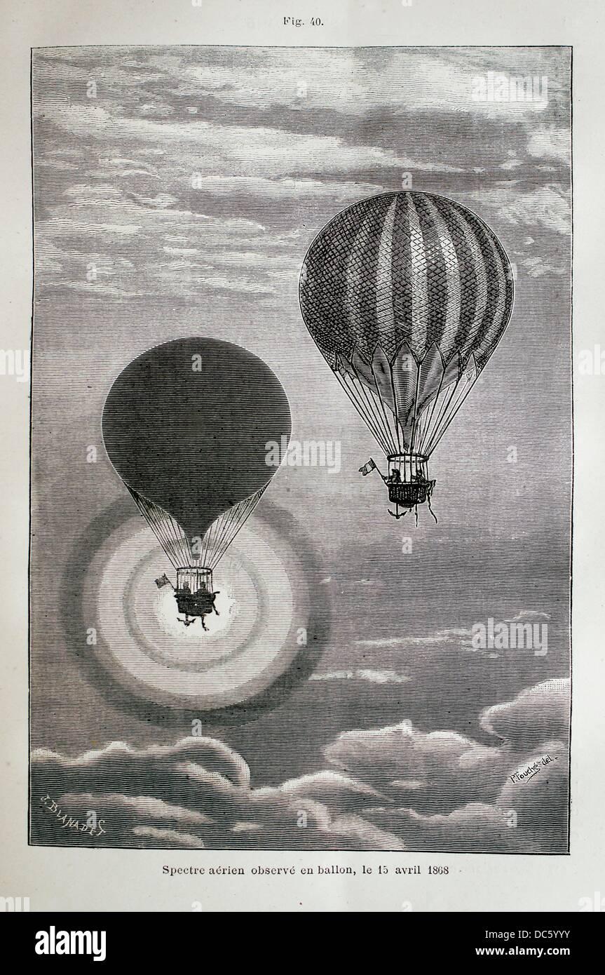 ´Spectre aérien observé en ballon le 15 avril 1868 ´, ´L´Astronomie´ journal - Stock Image