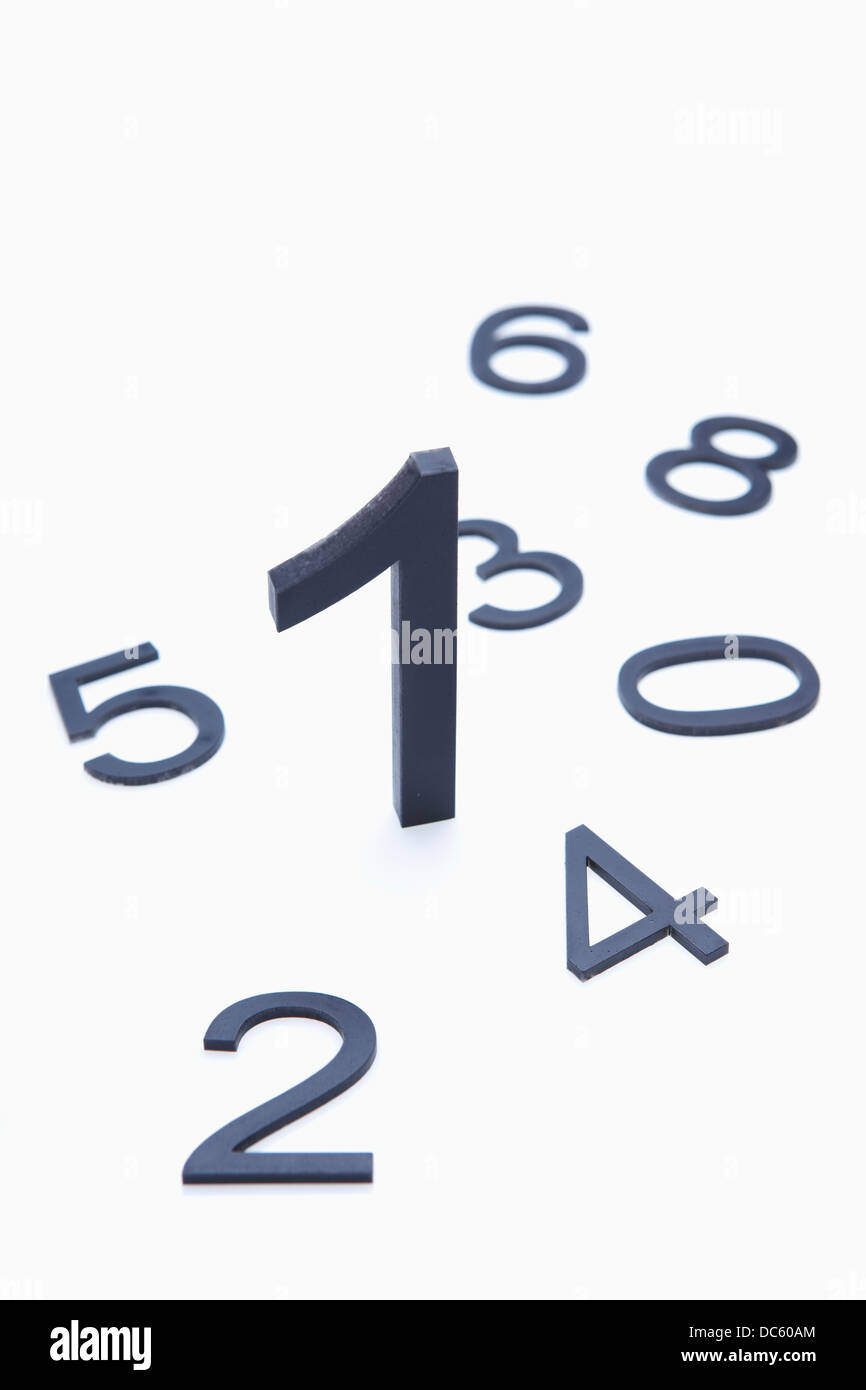 number one outstanding among other numbers - Stock Image