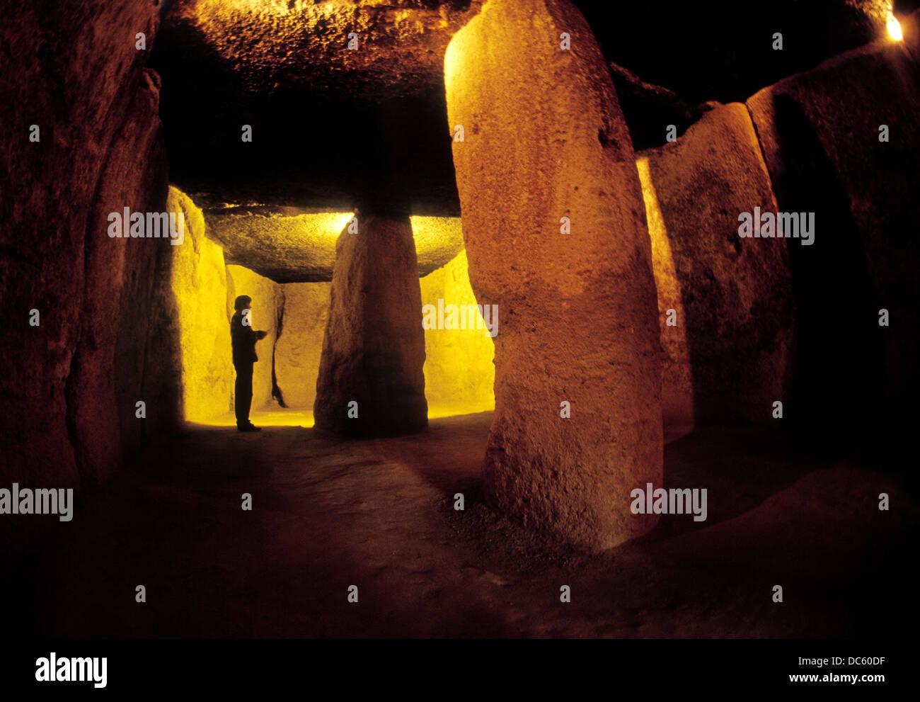 Menga dolmen. Antequera, Málaga province. Spain - Stock Image