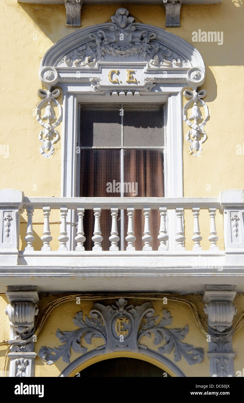 ´Casino Español´ building at Melilla. Spain. - Stock Image