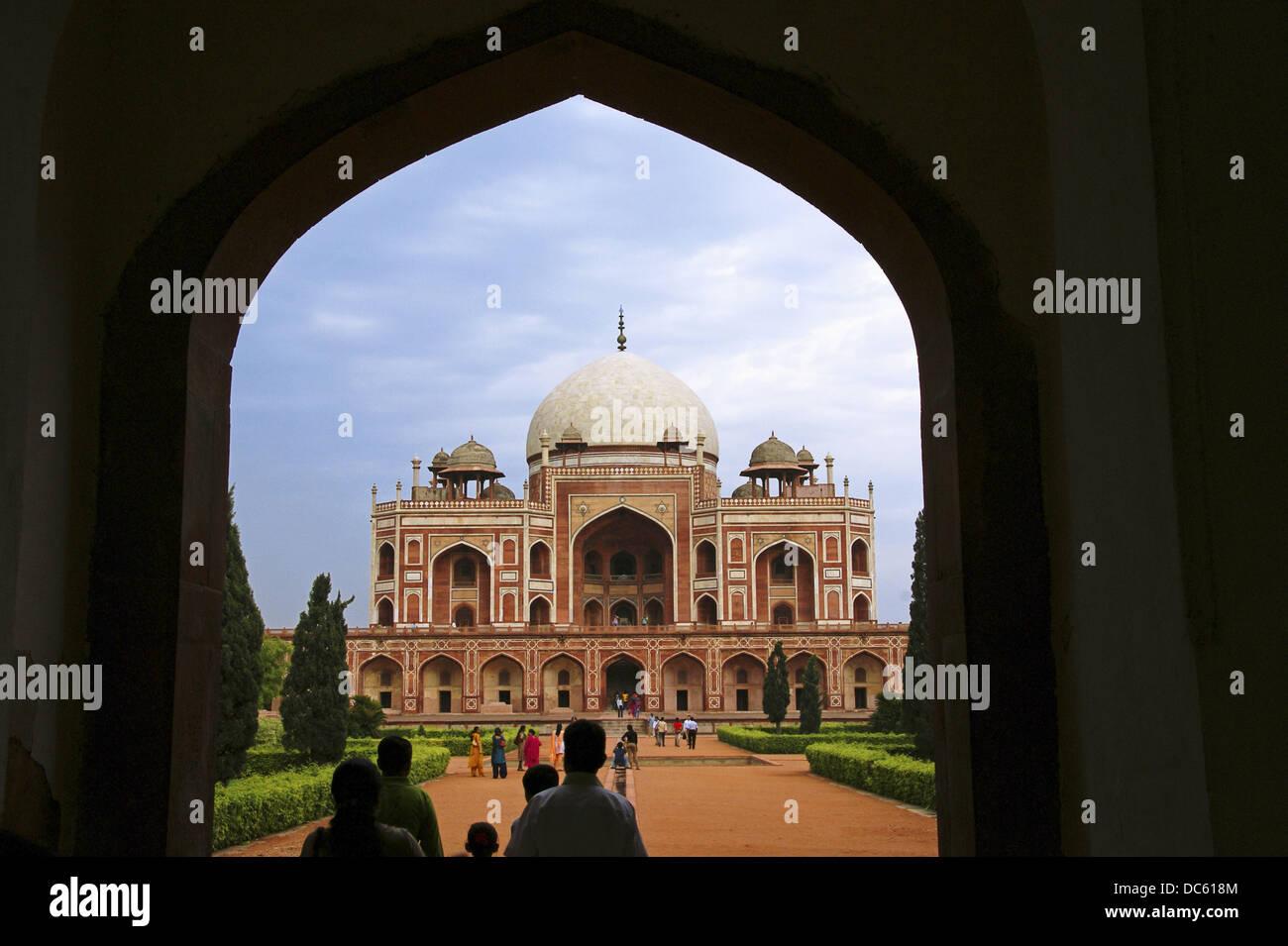 India. New Delhi. Humayun´s tombs - Stock Image