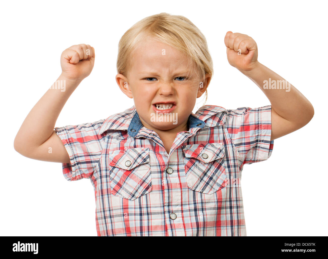 Angry young boy - Stock Image