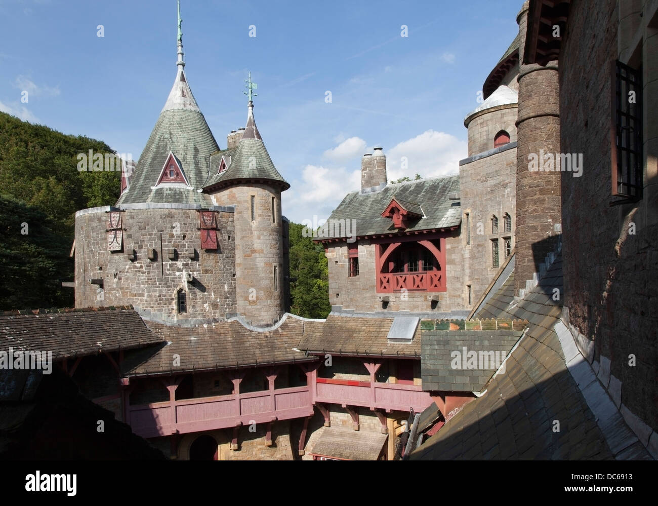 Castell Coch English Red Castle Gothic Revival Situated To The North Of Cardiff In Wales