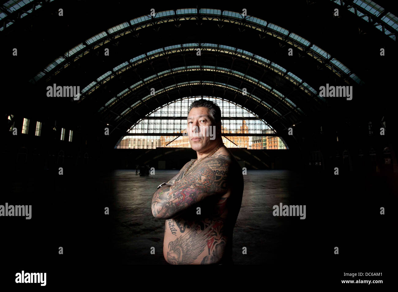 The Manchester Tattoo Show at Manchester Central . Jorge Perez , show organiser . - Stock Image