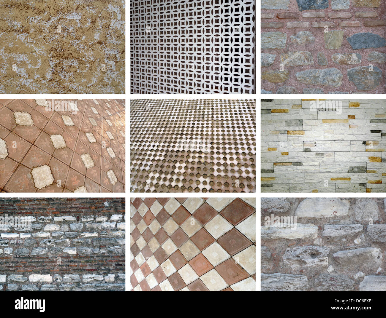 wall collage - Stock Image