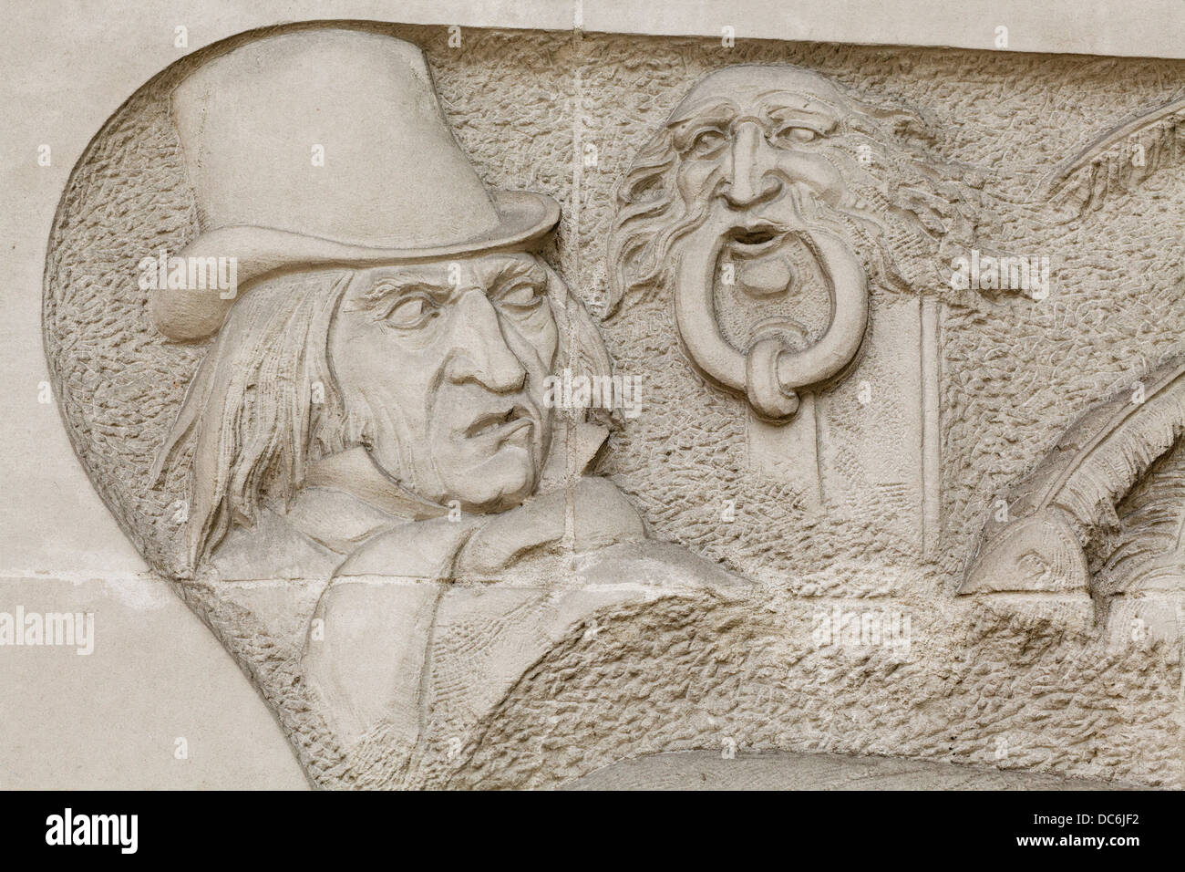 Ebenezer Scrooge Christmas Carol Characters.Charles Dickens And Characters In Marylebone Road London