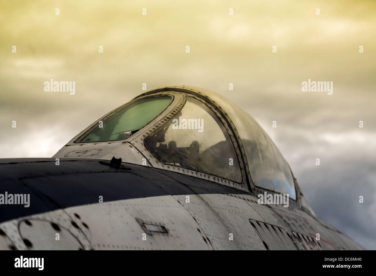 Vintage military airplane - Stock Image