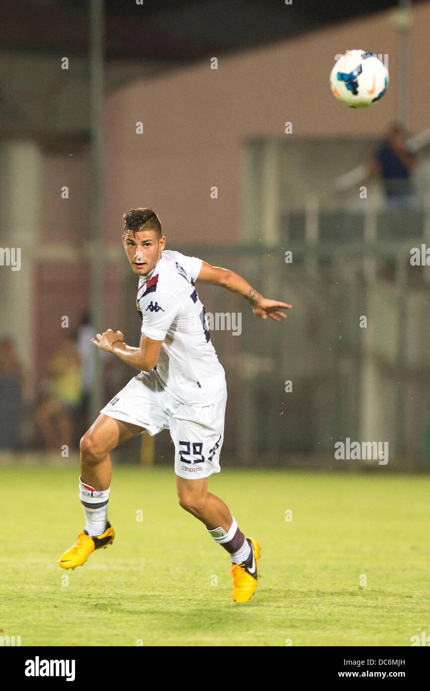 Nicola Murru (Cagliari), AUGUST 7, 2013 - Football / Soccer : Friendly match between Cagliari 0-0 Real Valladolid Stock Photo