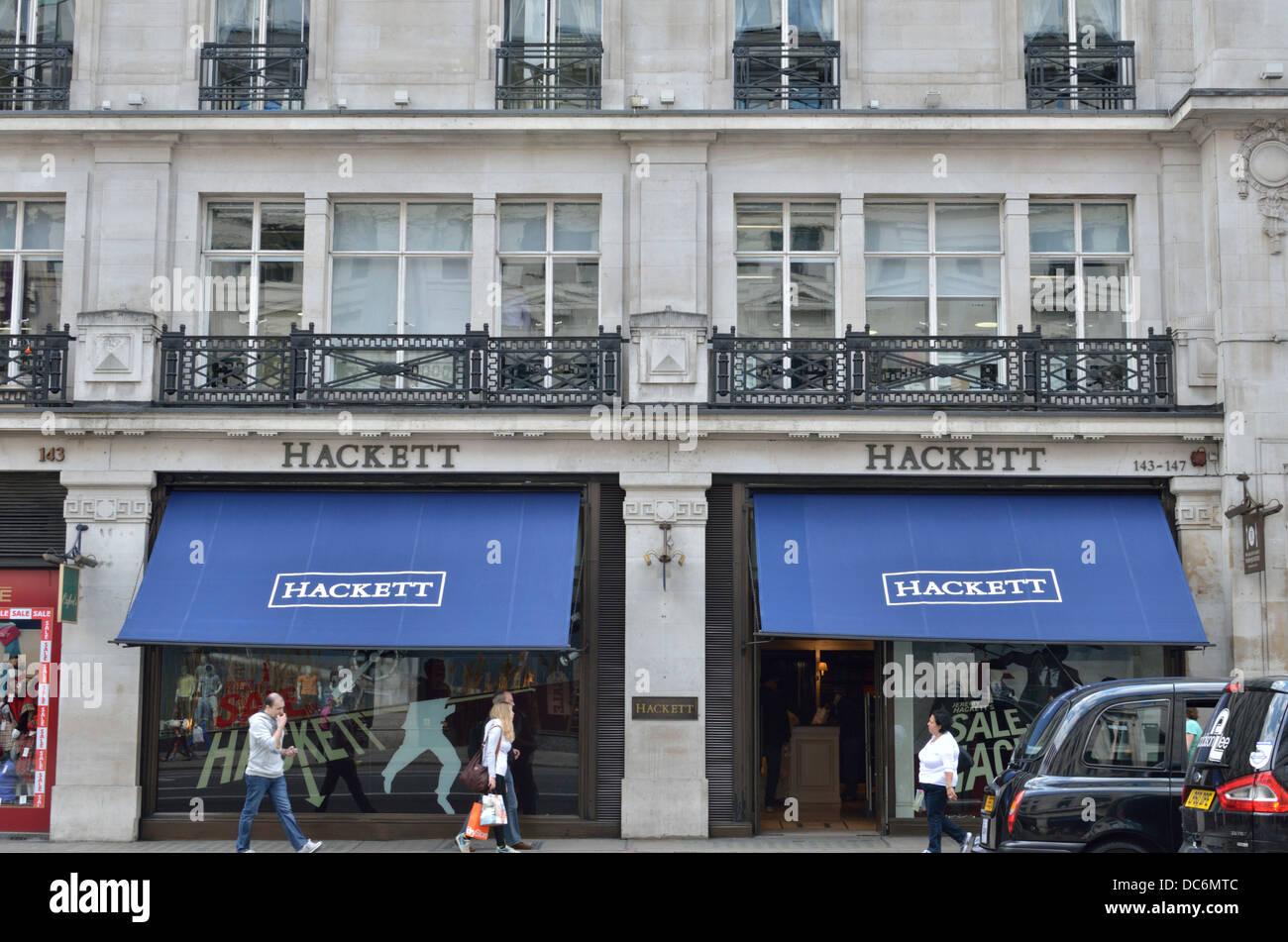 Hackett men's fashion store in Regent Street, London, UK. - Stock Image