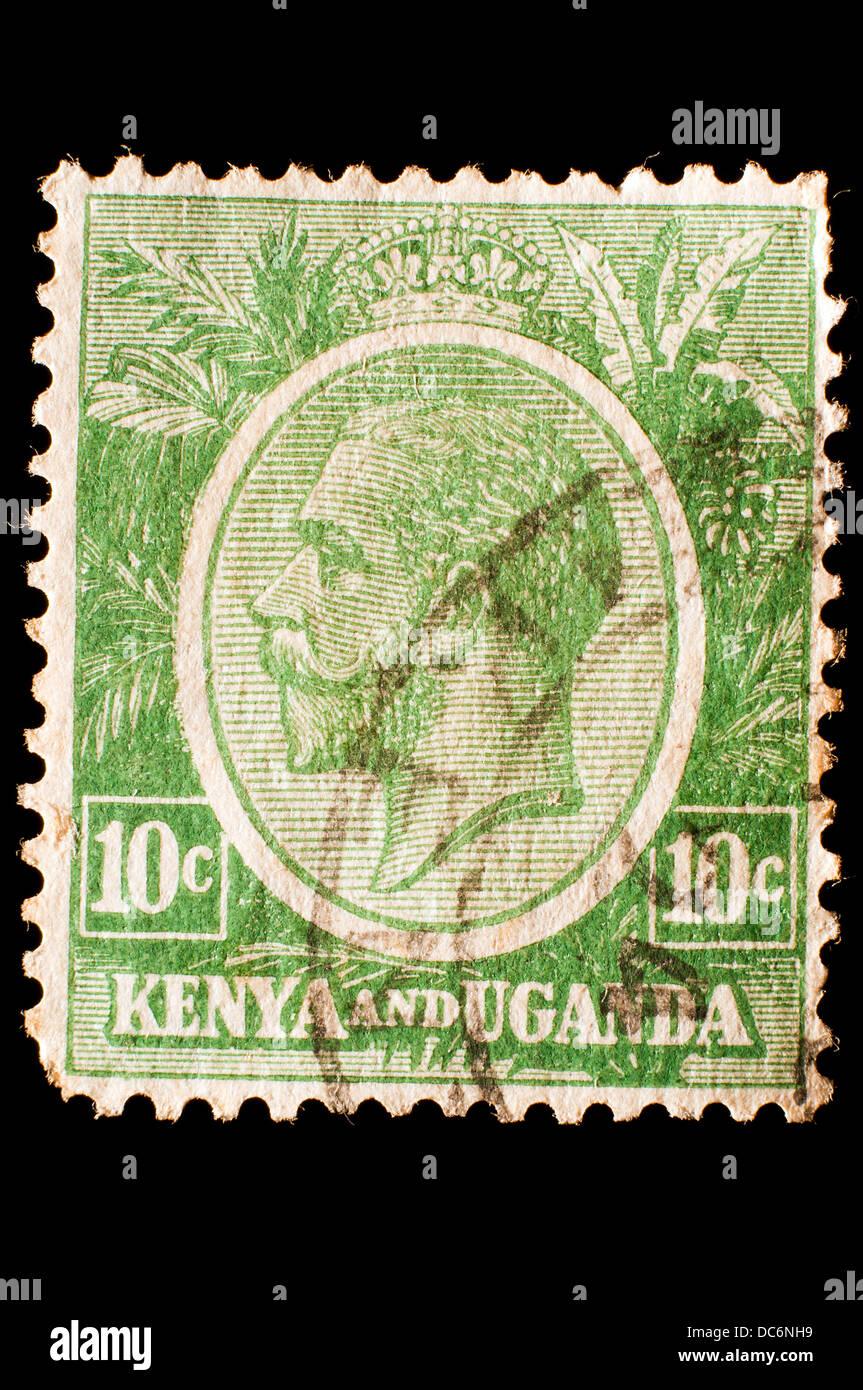 Kenya Uganda postage stamp Stock Photo