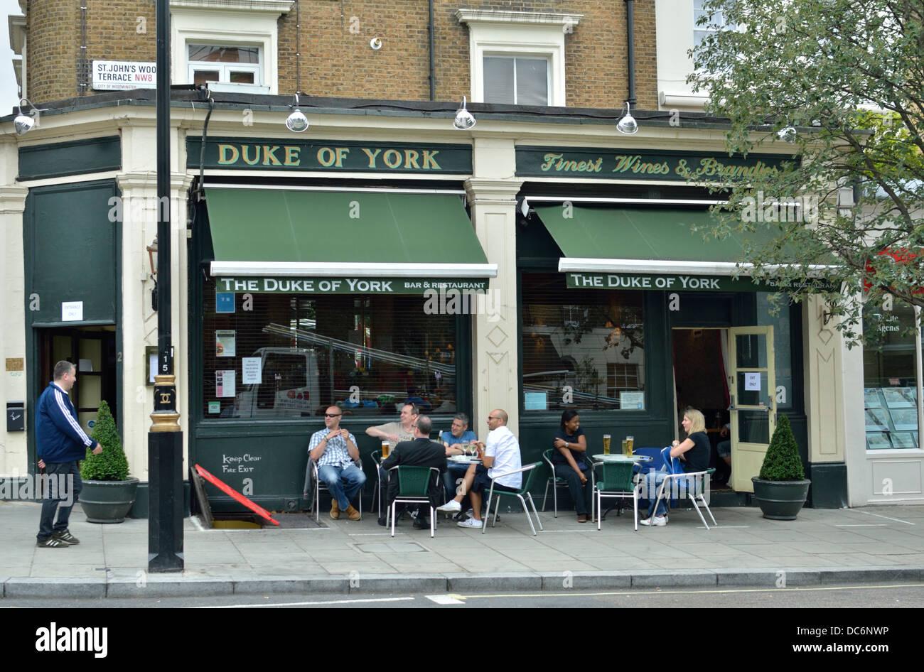 Duke of York pub in St. John's Wood, London, UK. - Stock Image