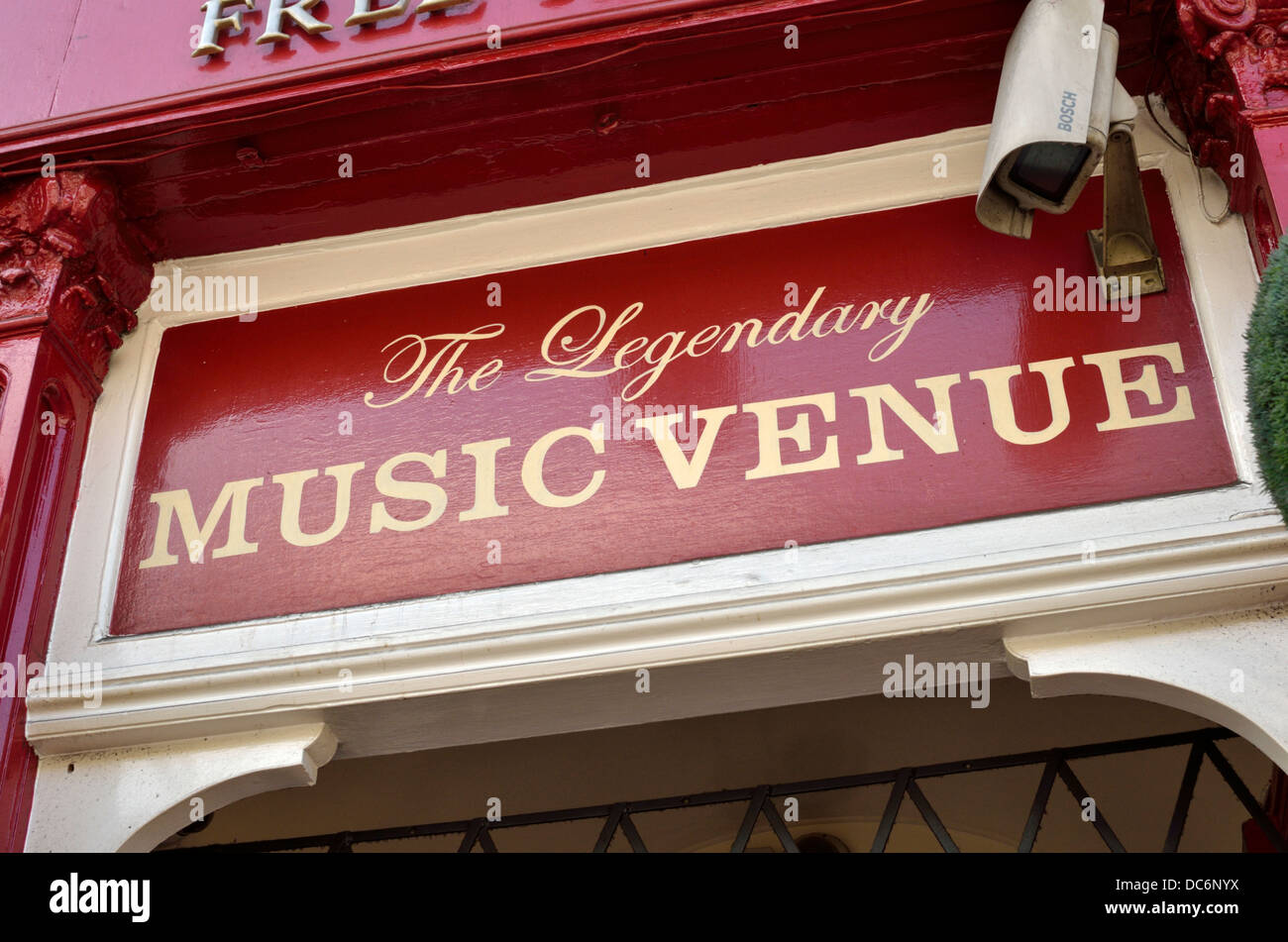 Music venue sign outside a London UK pub - Stock Image