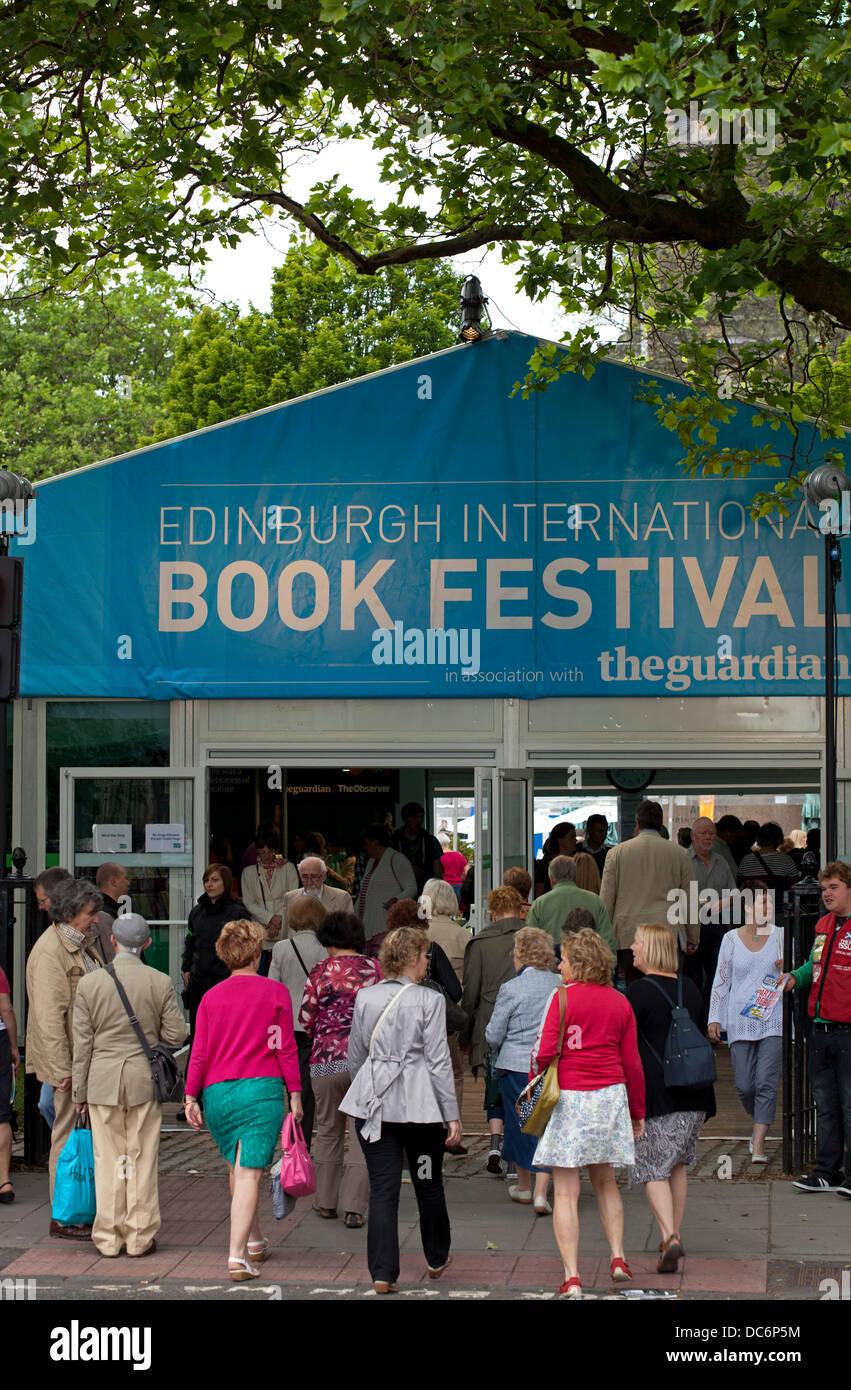 Edinburgh, 10th August 2013, opening day of the 30th Edinburgh International Book Festival 2013 - Stock Image
