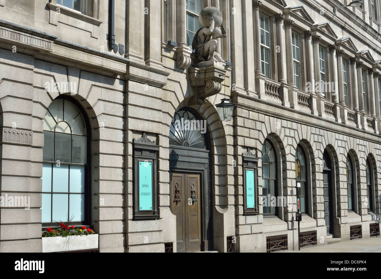 Number 1 One King Street office building, City of London, London, UK. - Stock Image