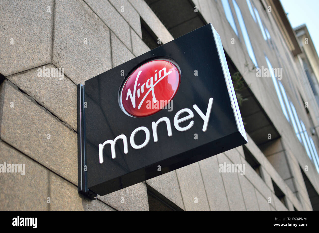 Virgin Money bank branch in Moorgate, City of London, London, UK. - Stock Image