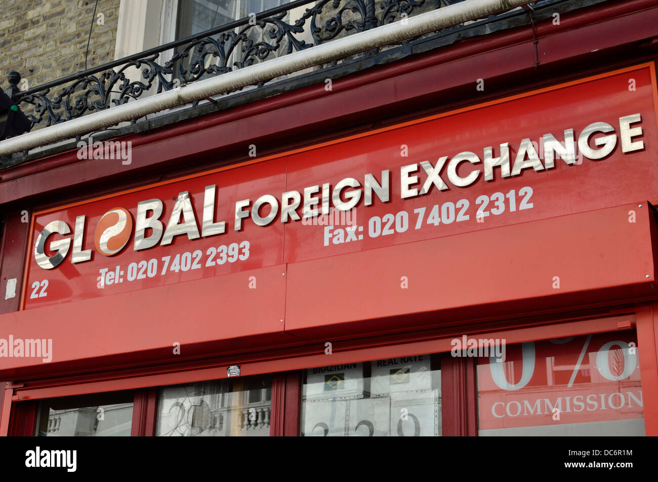 Global Foreign Exchange sign, London, UK - Stock Image