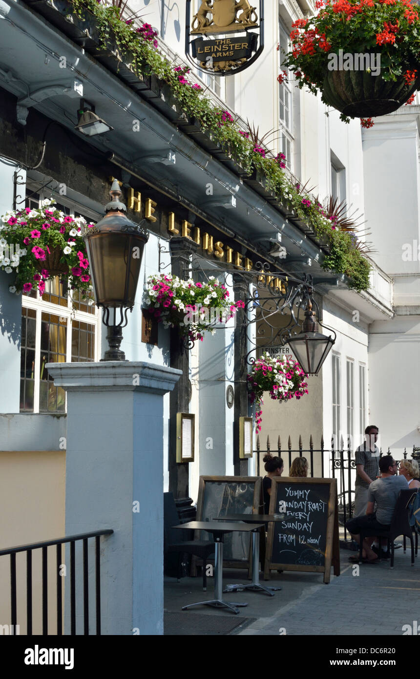 The Leinster Arms pub in Bayswater, London, UK. - Stock Image
