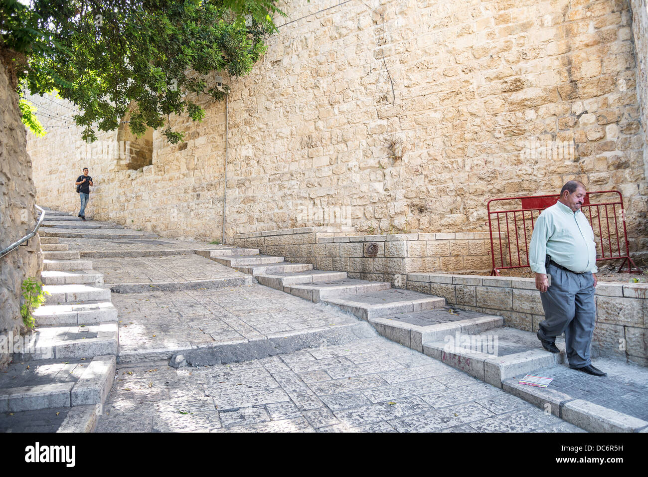 old town street of jerusalem in israel Stock Photo